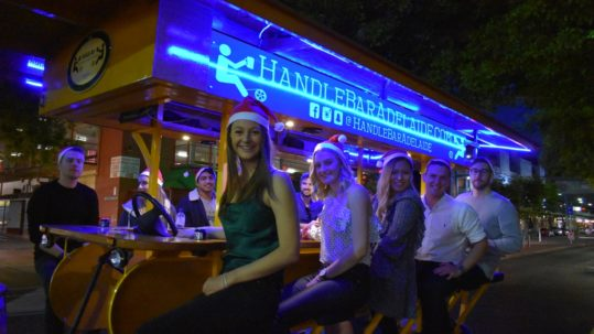 Adelaide Christmas party with pedal pub